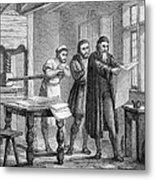 Johann Gutenberg, German Inventor Metal Print