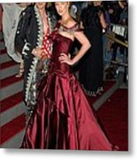 John Galliano, Charlize Theron Wearing Metal Print by Everett