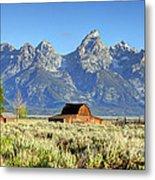 John Moulton Barn - Grand Teton National Park Metal Print