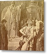Judgment Of Solomon Metal Print