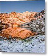 June Snowfall At Angel Lake Metal Print