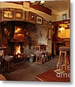 Kings Head Pub Kettlewell Metal Print by Louise Heusinkveld