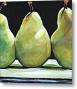 Kitchen Pears Metal Print
