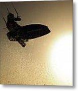 Kitesurfing At Sunset Metal Print
