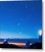 Kitt Peak National Observatory At Night Metal Print