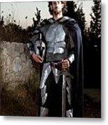 Knight In Shining Armour Metal Print by Yedidya yos mizrachi
