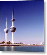 Kuwait Towers Metal Print