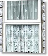 Lace Curtains Metal Print