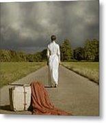 Lady On The Road Metal Print by Joana Kruse