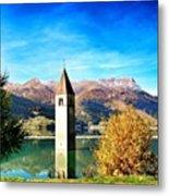 Lago Di Resia - Alto Adige. Reshen Metal Print