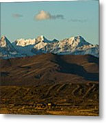 Landscape Of The Highlands And The Cordillera Real. Republic Of Bolivia. Metal Print