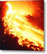 Lava Flow And Vent Metal Print by Dr Juerg Alean