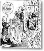 League Of Nations Cartoon Metal Print