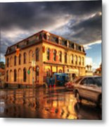 Left Turn In The Rain Metal Print