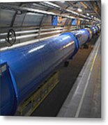 Lhc Tunnel, Cern Metal Print by David Parker