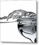 Light Bulb And Splash Water Metal Print