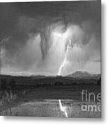 Lightning Striking Longs Peak Foothills 3 Metal Print