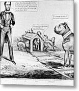 Lincoln: Cartoon, 1864 Metal Print