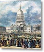 Lincoln Inauguration, 1865 Metal Print
