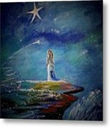 Little Wishes By The Sea Metal Print