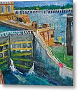Lock And Dam 19 Metal Print by Jame Hayes