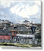 Locomotive Factory, C1855 Metal Print