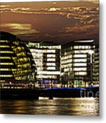 London City Hall At Night Metal Print