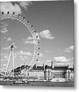 London Eye And County Hall Metal Print