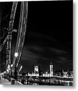 London Eye And London View Metal Print