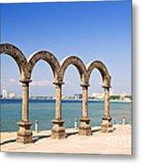 Los Arcos Amphitheater In Puerto Vallarta Metal Print
