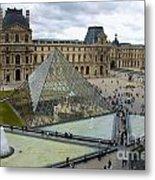 Louvre Museum. Paris Metal Print
