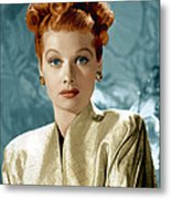 Lucille Ball, Ca. Mid-1940s Metal Print