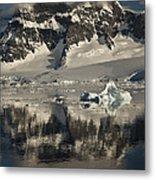 Luigi Peak Wiencke Island Antarctic Metal Print by Colin Monteath