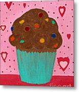 M And M Cupcake Metal Print