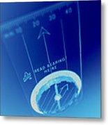 Magnetic Compass Metal Print