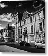 main road through the picturesque small town of Callander scotland uk Metal Print by Joe Fox