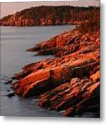 Maine Granite Coast Metal Print