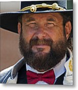 Major General L. L. Lomax Portrayed By Dan L. Carr 150th Anniversary Of The American Civil War Metal Print