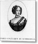 Marie-ang�lique De Rousille Metal Print