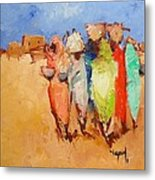 Market Day Metal Print by Negoud Dahab
