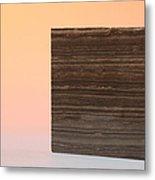 Marron Grecale Marble Metal Print