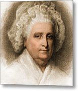 Martha Washington, American Patriot Metal Print