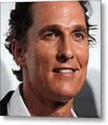 Matthew Mcconaughey At Arrivals Metal Print by Everett