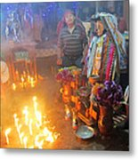 Maximon Ceremony In Guatemala Metal Print