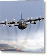 Mc-130p Combat Shadow Over Scotland Metal Print