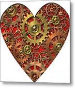 Mechanical Heart Metal Print by Michal Boubin