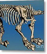 Megatherium Extinct Ground Sloth Metal Print by Science Source