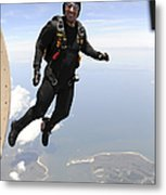 Member Of The U.s. Army Golden Knights Metal Print