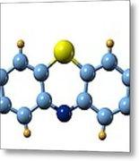 Methylene Blue, Molecular Model Metal Print