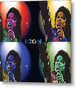 Michael Jackson Icon4 Metal Print